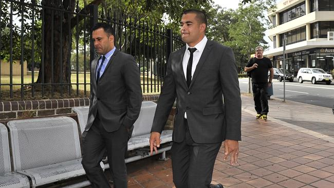 Richie Fa'aoso leaves Campbelltown Court House today