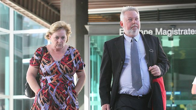 Denise and Bruce Morcombe at court in Brisbane during the committal hearing of Brett Peter Cowan.