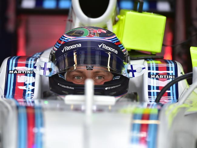 Valtteri Bottas in race mode.