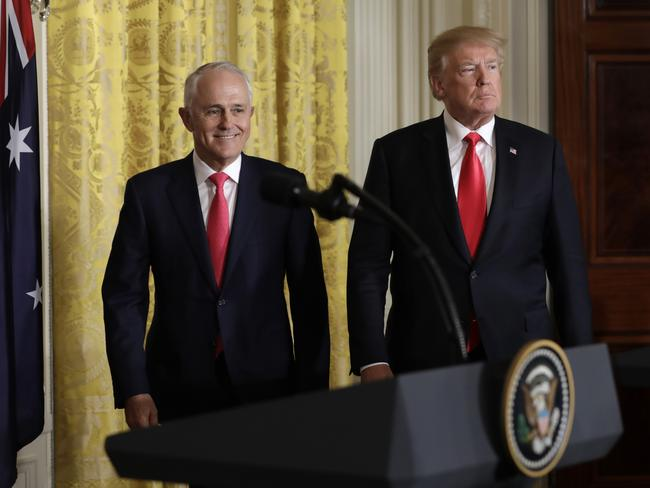 Malcolm Turnbull maintains that he and the President 'get on very well'. Picture: AAP Image/Yuri Gripa