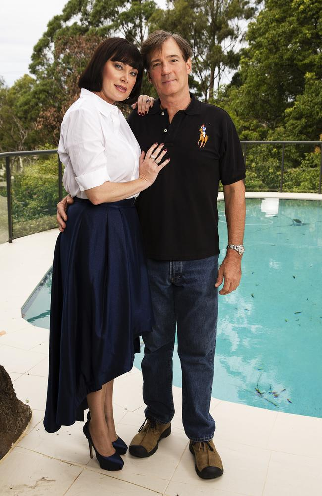 David with wife and Real Housewives star Lisa Oldfield at their home. Picture: Justin Lloyd.