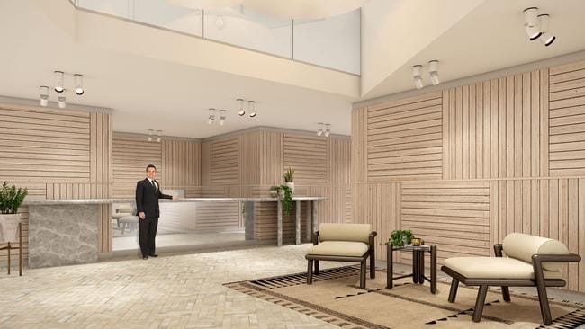 A spacious concierge to welcome you and your guests in.