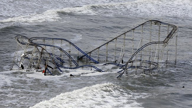 New Jersey got the brunt of the massive storm. Picture: AP