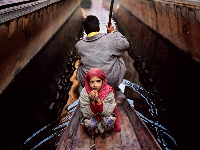 Steve McCurry: India exhibition - Father and daughter on Dal Lake, Srinagar, Kashmir, 1996. Picture: Steve McCurry