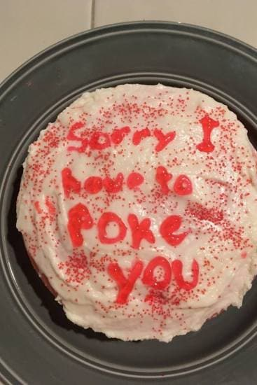 Brings new meaning to the name 'poke cake', huh? Image: Tiffany Rex/Facebook