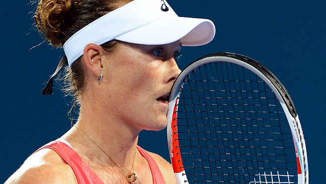 Sam Stosur had few answers during her first-round loss to Sofia Arvidsson at the Brisbane International.