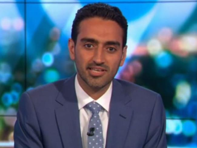 Lumumba stuck into Waleed Aly following the interview, and claimed his team demonstrated 'white supremacy'. Picture: The Project/Channel 10