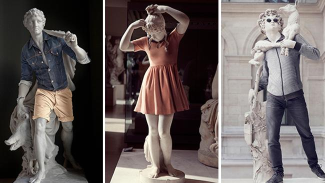 Caillard dressed classical sculptures as hipsters. Discuss.