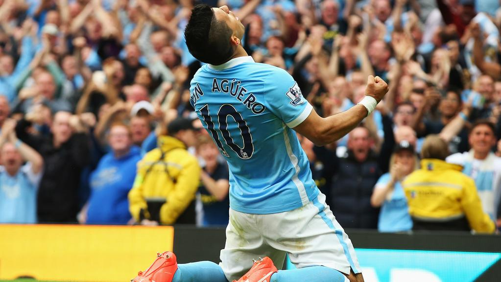 Kun Aguero Man City Goal
