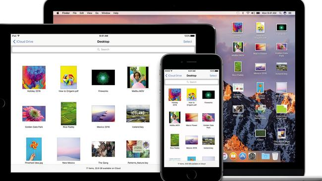 MacOS Sierra: a redesigned iCloud lets you access the files on your Mac desktop from your iPhone and iPad