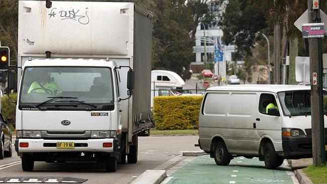 Parking space is valuable. Just ask this guy blocking the bike path