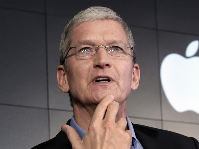 THe most unlikely freedom fighter: Apple CEO Tim Cook. Picture: AP Photo/Richard Drew