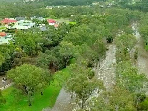 Drone footage: All the rivers run