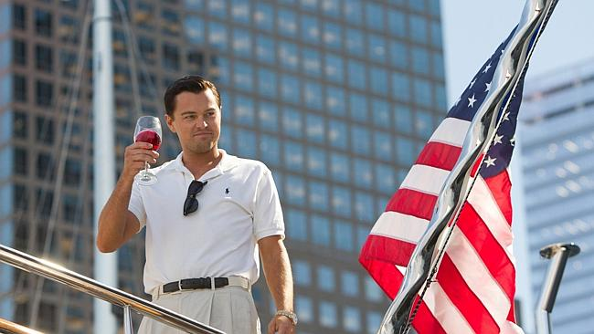Oscar buzzz ... Leonardo DiCaprio as Jordan Belfort in The Wolf of Wall Street. Picture: Mary Cybulski/Paramount Pictures