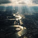 """© Maria Farrelly, UK, Entry, Open, Architecture, 2016 Sony World Photography Awards """"This image was taken on my (cracked) iPhone on board a flight from Oslo, Norway into London Heathrow on 28th July 2015."""""""