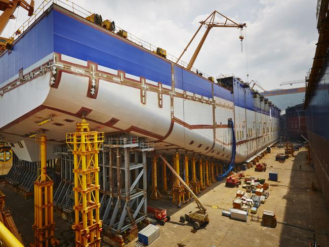 Samsung Heavy Industries' shipyard in South Korea.