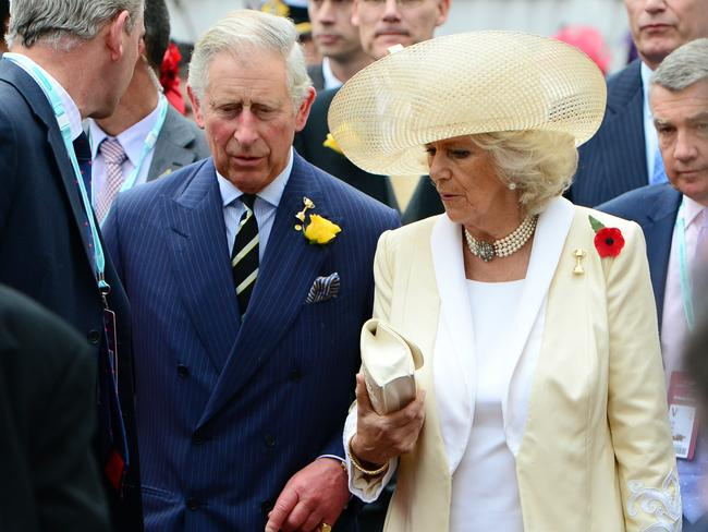 Their Royal Highnesses The Prince of Wales and The Duchess of Cornwall reportedly first got together in the 1970s after Camilla Parker-Bowles discovered her boyfriend was cheating on her. Picture: News Limited