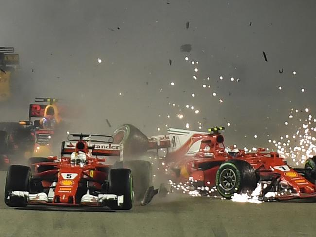 Chaos — but was it all Vettel's fault?