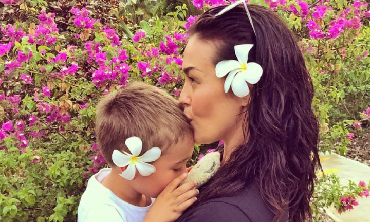 Megan Gale shares a rare photo of her son River and we're in love