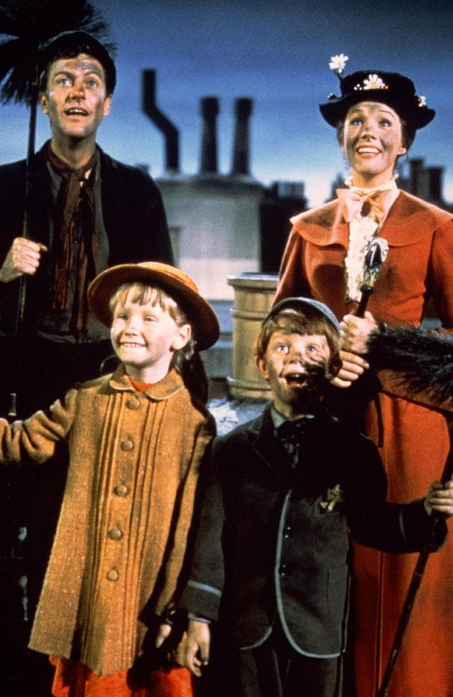 The four main characters from the original Mary Poppins.
