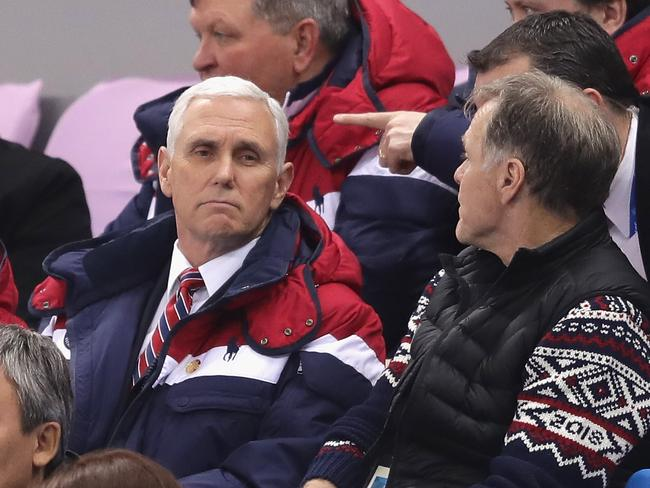 American vice president Mike Pence is in PyeongChang with Fred Warmbier.