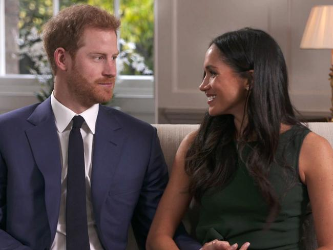 Meghan Markle and Prince Harry said a female friend had introduced them on a blind date. Picture: AP