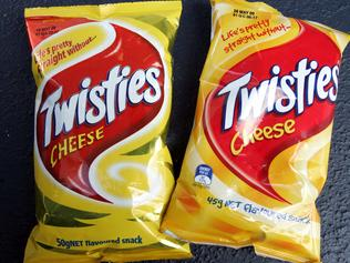 News BCM 24-03-09 Twisties 45g-50g packets purchased from Coles Central Myers NO BY LINE PIC NORRISH