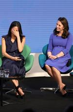 Meghan Markle and Catherine, Duchess of Cambridge attend the first annual Royal Foundation Forum held at Aviva on February 28, 2018 in London, England. Picture: Chris Jackson/Getty Images