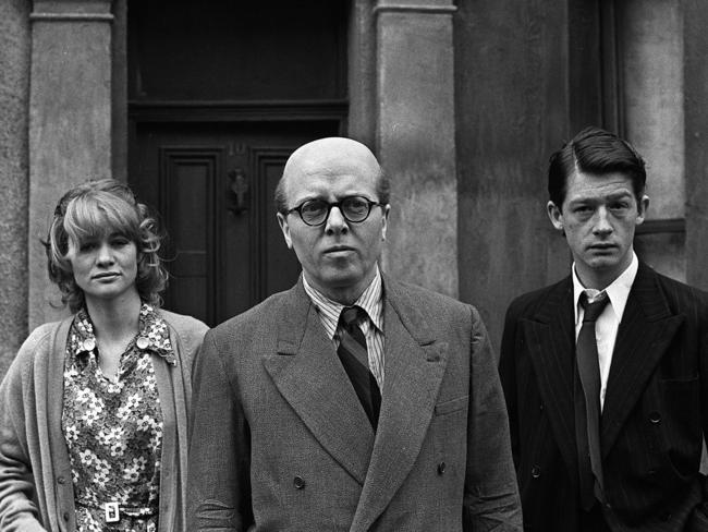 "Richard Attenborough, centre, portrays mass murderer John Reginald Christie in the lead role of ""10 Rillington Place""."