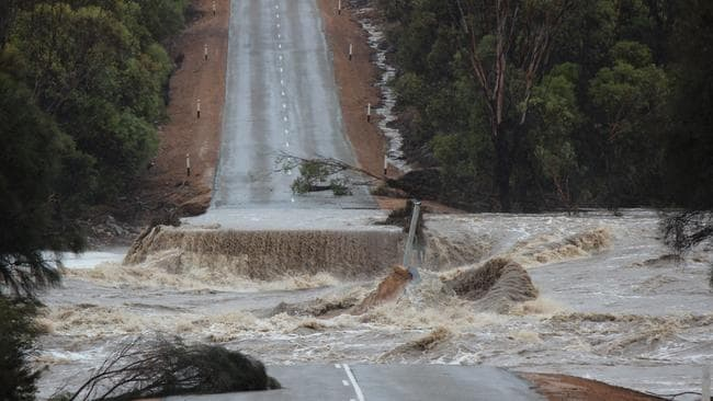Floods are ravaging the West Australian south coast. Picture: Dana Fairhead