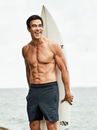 And James Stewart after the eight-week program. Picture: Jason Ierace for Men's Health