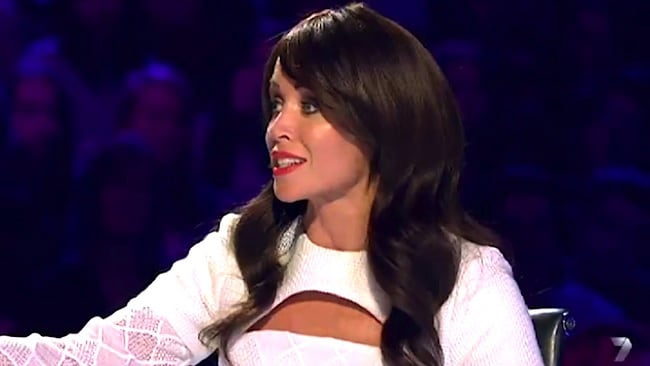Same wig, different day of X Factor auditions for Dannii Minogue . Picture: Supplied