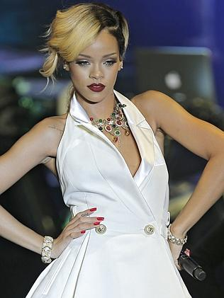 """Rihanna performs at """"Le Sporting"""" in Monaco during her """"Diamonds World Tour""""."""