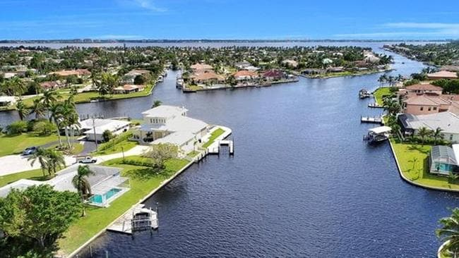 The region is a boggy swamp, and the canals are essentially emergency plumbing. Picture: Zillow