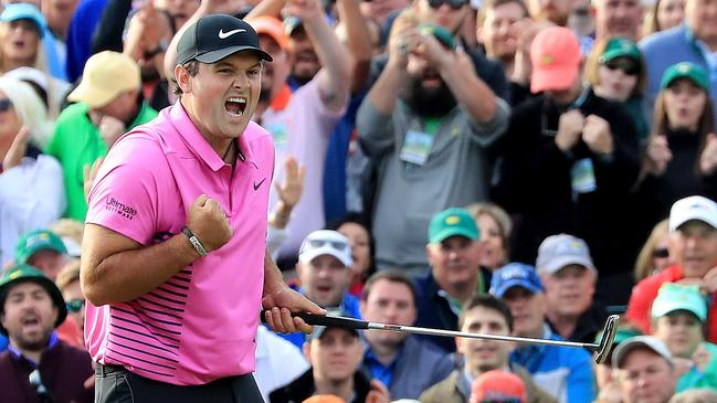 Patrick Reed celebrates after winning the 2018 Masters at Augusta National Golf Club.