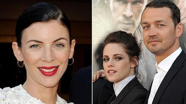 Kristen Stewart with Rupert Sanders and, at left, the director's wife Liberty Ross, who filed for divorce after news of their affair went public.