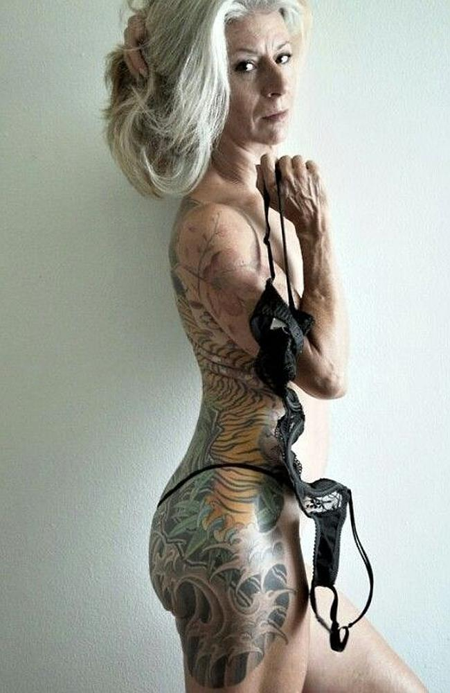Tattoos for sex appeal? This is you at 60. Picture: Pinterest.