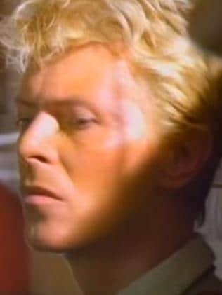 Music hit ... singer David Bowie shot Let's Dance in Australia. Picture: YouTube