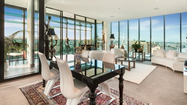 A unit for sale in St Kilda Rd, Melbourne has an asking price of $3.1 million, the equivalent of just over $14,000 a square metre. Picture: realestate.com.au