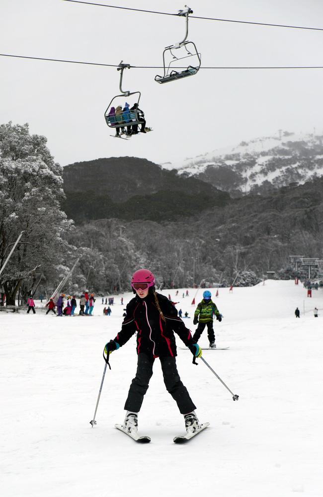 There's powder as far as the eye can see here at Thredbo. Picture: Supplied