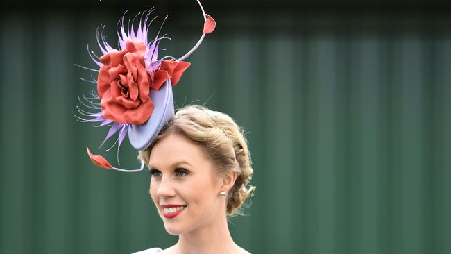 Fashions on the field winner Crystal Kimber . Picture Tracey Nearmy