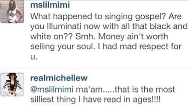 Michelle goes in for the kill. Picture: Instagram