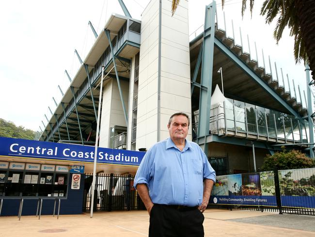 Chris Holstein, former Gosford City Mayor, has backed the Central Coast Mariners plan to redevelop Central Coast Stadium. Picture: Peter Clark
