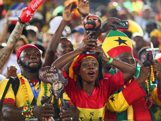 Ghana fans brought plenty of colour to the stadium.