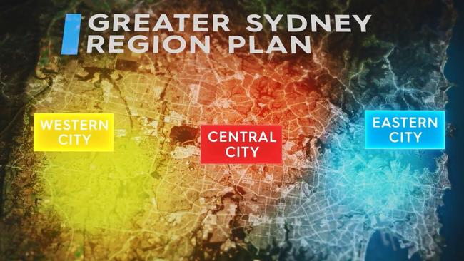 There are grand plans to recast Greater Sydney as three interconnected cities. Picture: Greater Sydney Commission