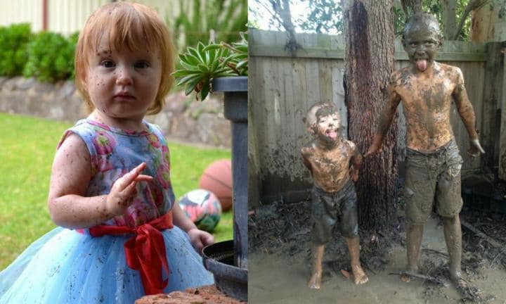 Dirt is officially good for kids - go get muddy!