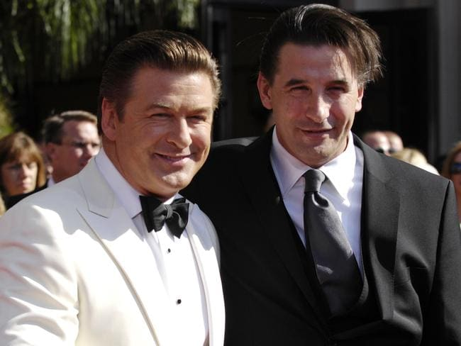 Billy Baldwin with his fellow actor brother Alec Baldwin. Picture: AP Photo