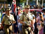 The Townsville Anzac parade. Picture: Alix Sweeney