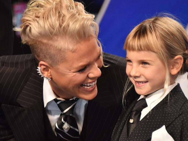 Pink and her daughter, Willow, on the VMAs red carpet.