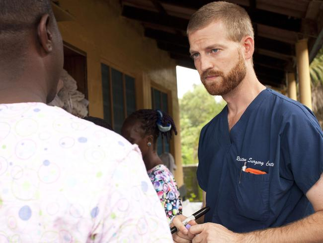 Dr Kent Brantly contracted Ebola while working in Liberia. Picture: AFP / Samaritan's Purse / Joni Byker